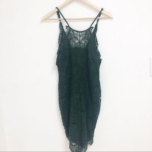 Free People She's Got it Slip Green XS